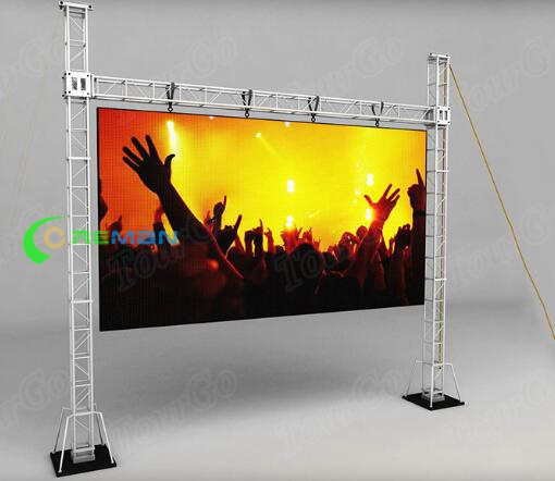 P6 P8 Indoor Stage Display Screens For Hire SMD 3528 Hanging Installation