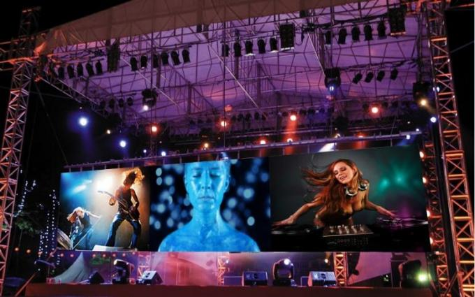 4k Ultra HD Led Display Rental Ulter Thin , High Resolution Led Display High Definition