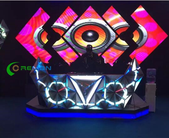 SMD Indoor Full Color Video Led Screen Dj Booth Display For Nightclub Bar P4 P5 P6