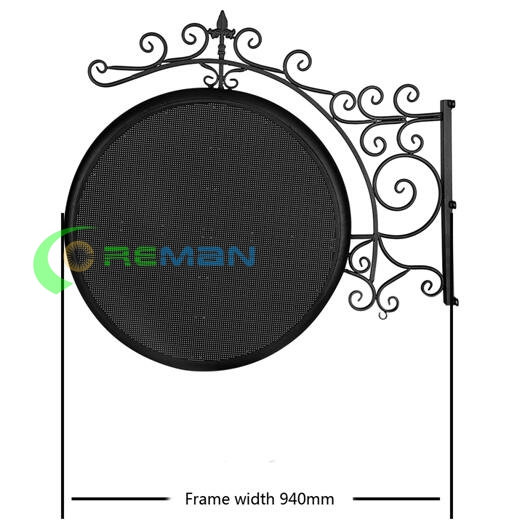 Circle Clock Logo Irregular LED Display , LED Advertising Display  Store Shopping Mall Outdoor Two Side