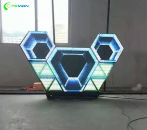 China Wall LED Screen Display Apply In Nightclub Diamond Triangle Shape P5 SMD supplier