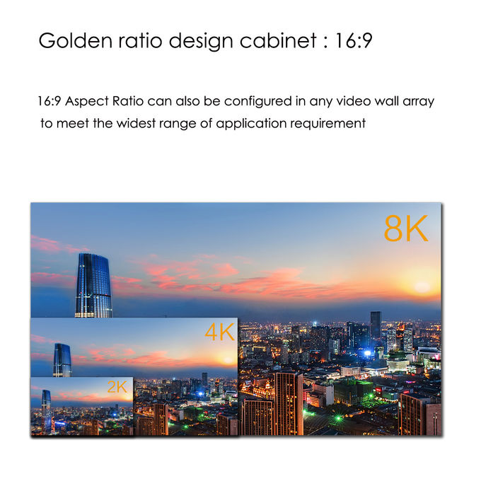 Full Color HD LED Display P1.33 3840 X 1920 1920 X 1280 Super High Refresh Rate
